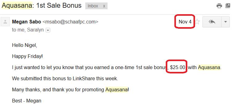Aquasana Sale Bonus