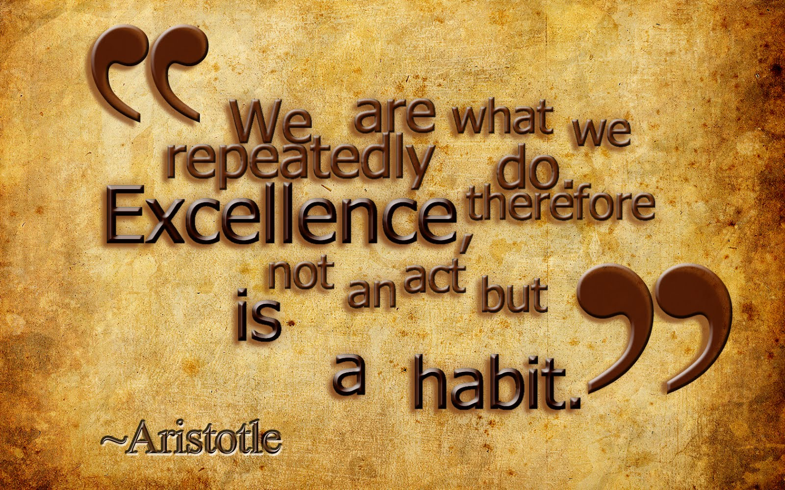 Excellence by aristotle