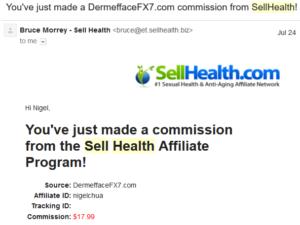 SellHealth affiliate commission