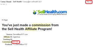 Sellhealth affiliate commission