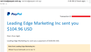 sellHealth affiliate commission payout