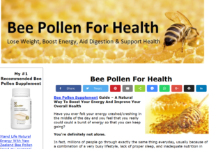 bee pollen for health snippet