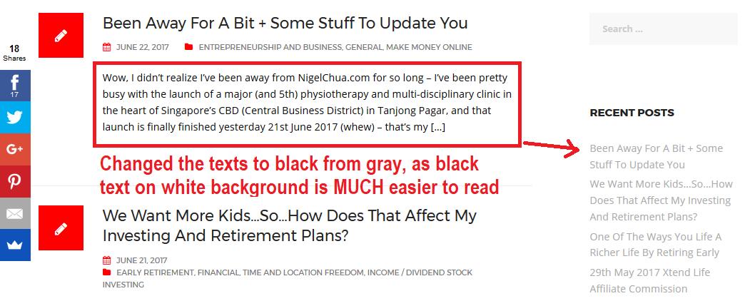 black texts