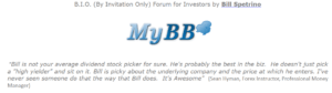 by invite only forum for investors bill spetrino