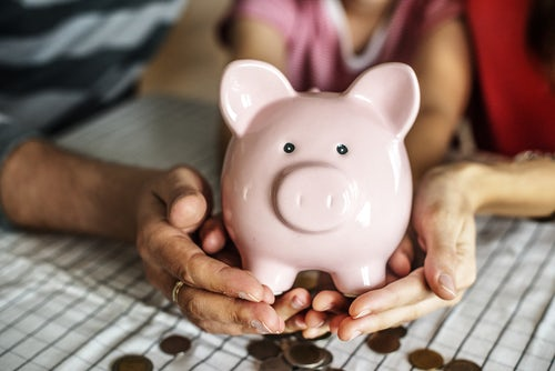 children saving money FIRE concept