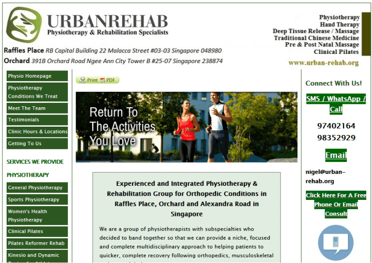 old urban rehab website
