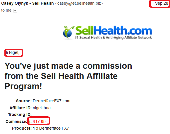 online business income and payment received proof sellhealth 2016 september 28