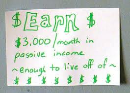passive income goal