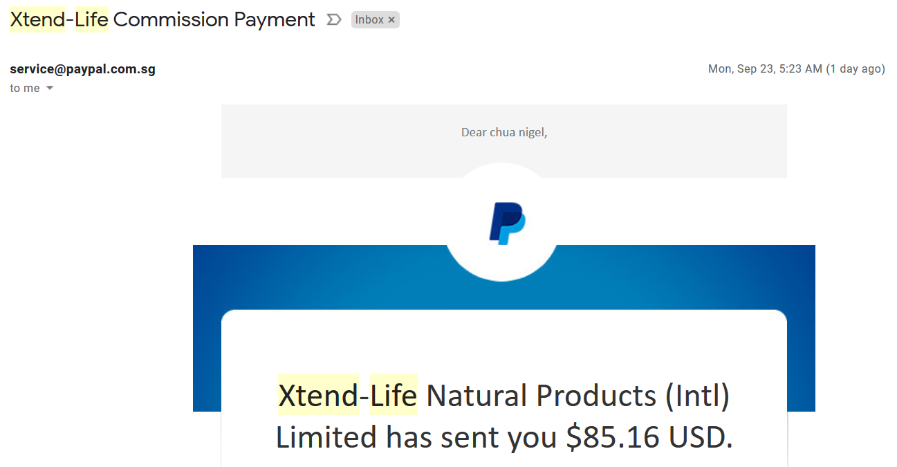 passive income online commission xtend life
