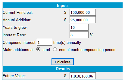 passive income planning 10 years