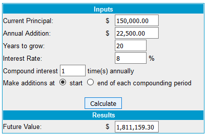 passive income planning 20 years