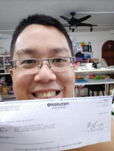 rakuten cheque payment 2