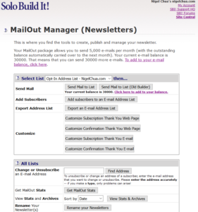 site solo build it email marketing newsletters